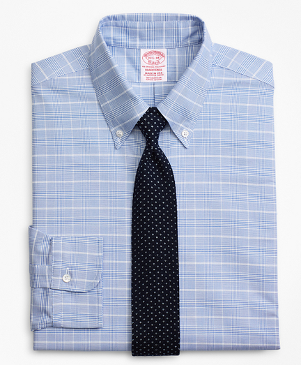Original Polo® Button-Down Oxford Traditional Relaxed-Fit Dress Shirt, Glen Plaid