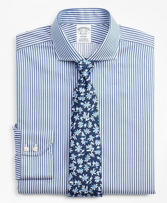 Regent Regular-Fit Dress Shirt, Non-Iron Bold Stripe Blue