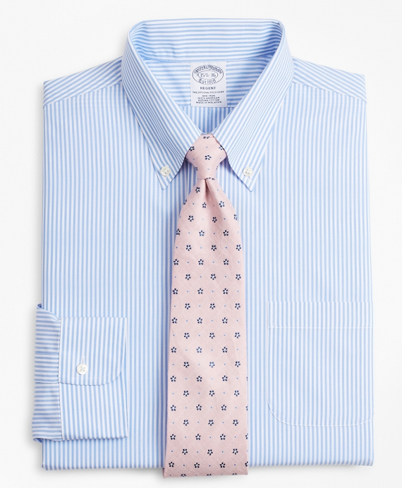 Regent Fitted Dress Shirt, Non Iron Bengal Stripe by Brooks Brothers