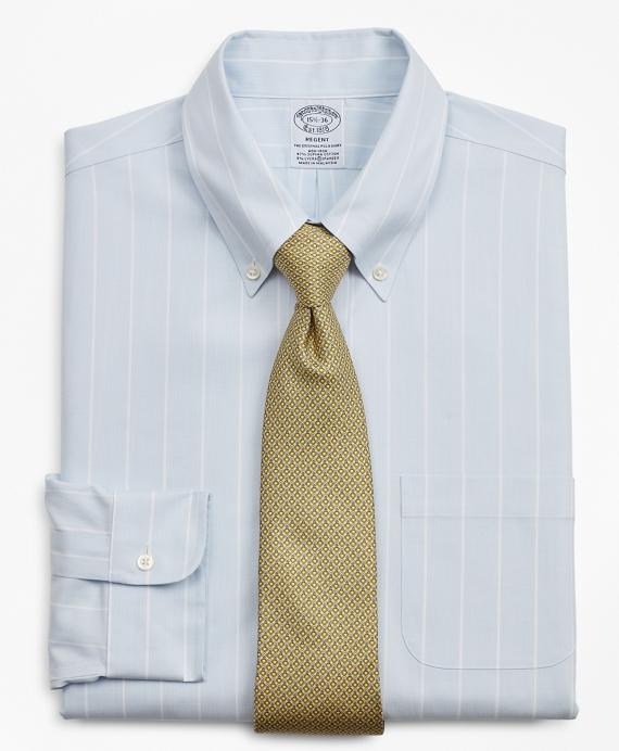 Stretch Regent Regular-Fit Dress Shirt, Non-Iron Pinstripe Blue