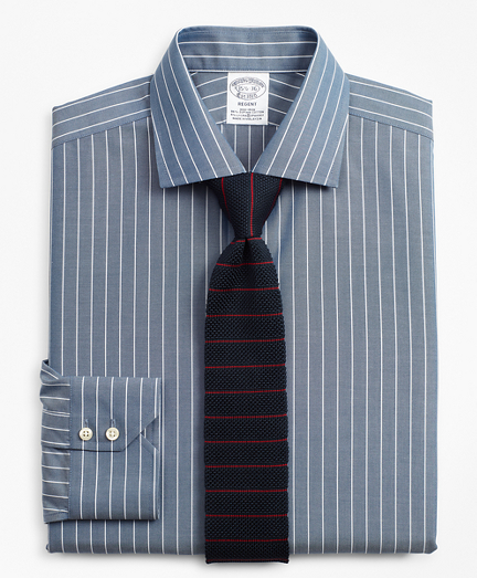 Stretch Regent Fitted Dress Shirt, Non-Iron Pinstripe