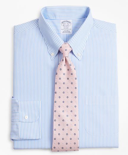 Madison Classic-Fit Dress Shirt, Non-Iron Bengal Stripe