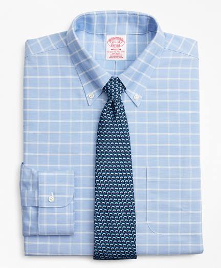 BrooksCool® Madison Classic-Fit Dress Shirt, Non-Iron Windowpane