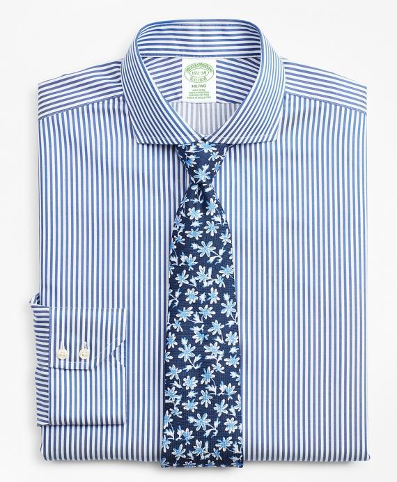 Milano Slim Fit Dress Shirt, Non-Iron Bold Stripe Blue