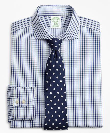 Milano Slim Fit  Dress Shirt, Non-Iron Windowpane