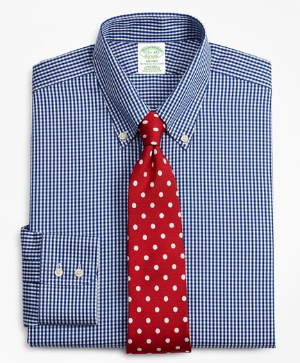Milano Slim-Fit Dress Shirt, Non-Iron Gingham