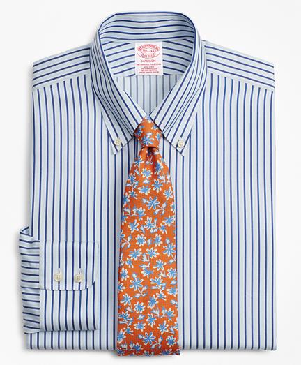 Madison Classic-Fit Dress Shirt, Non-Iron Alternating Stripe