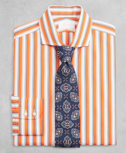 Golden Fleece® Milano Slim-Fit Dress Shirt, English Collar Multi-Stripe Poplin