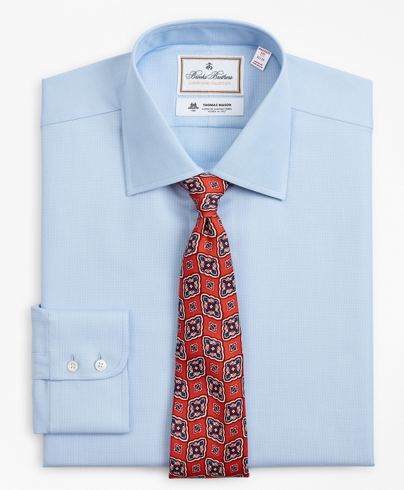 Luxury Collection Madison Relaxed-Fit Dress Shirt, Franklin Spread Collar Dobby Light Blue