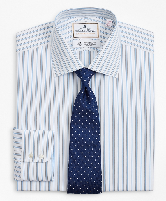 Luxury Collection Madison Classic-Fit Dress Shirt, Franklin Spread Collar Outline Stripe Light Blue