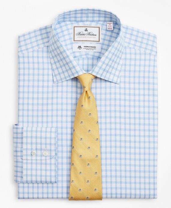 Luxury Collection Madison Classic-Fit Dress Shirt, Franklin Spread Collar Check Blue