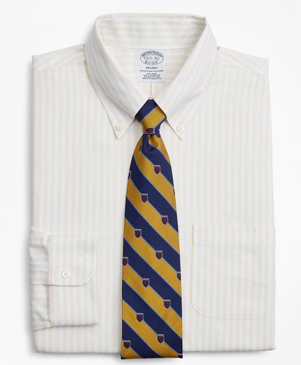 BrooksCool® Regent Fitted Dress Shirt, Non-Iron Stripe