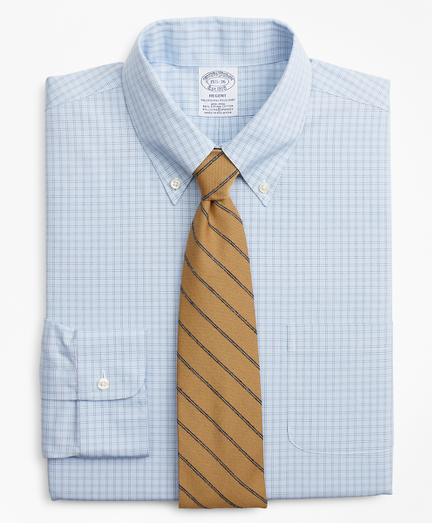 Stretch Regent Fitted Dress Shirt, Non-Iron Check