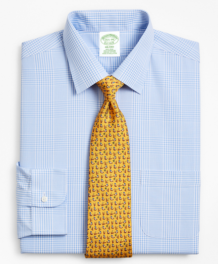 Milano Slim-Fit Dress Shirt, Non-Iron Glen Plaid