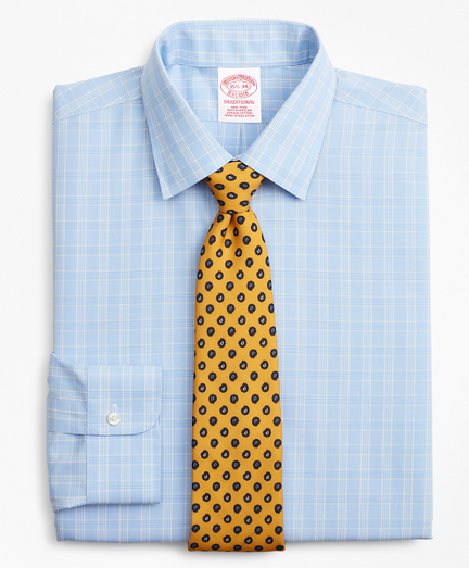 Traditional Extra-Relaxed-Fit Dress Shirt, Non-Iron Glen Plaid