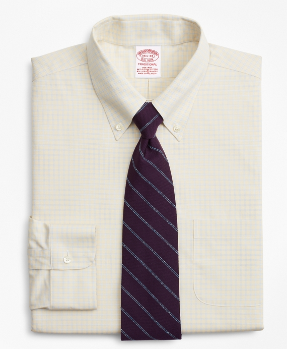 Stretch Traditional Relaxed-Fit Dress Shirt, Non-Iron Check