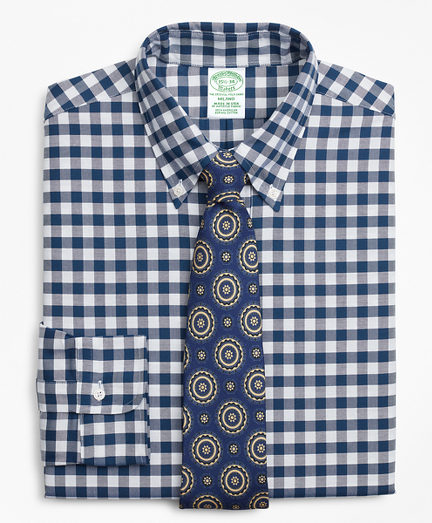 Original Polo® Button-Down Oxford Milano Slim-Fit Dress Shirt, Gingham