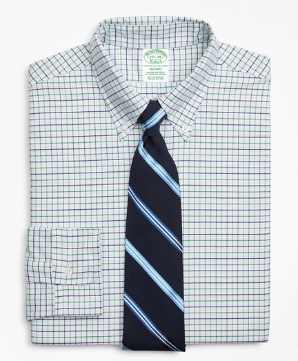 Original Polo® Button-Down Oxford Milano Slim-Fit Dress Shirt, Windowpane