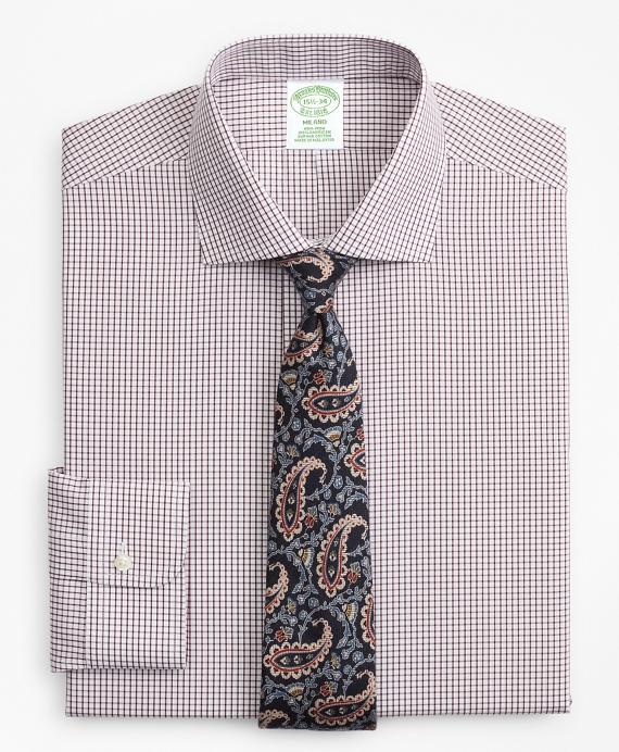 Milano Slim-Fit Dress Shirt, Non-Iron Windowpane Fig