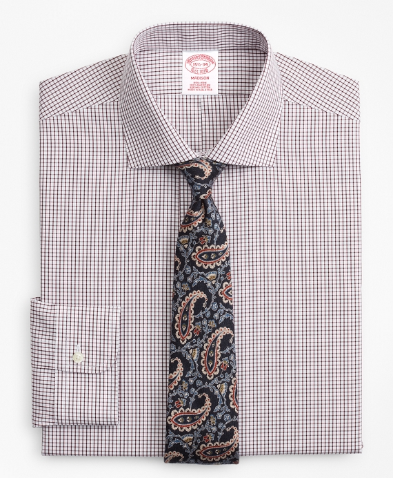 Madison Relaxed-Fit Dress Shirt, Non-Iron Windowpane Fig