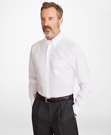 Madison Classic-Fit Dress Shirt, Performance Non-Iron with COOLMAX®, Button-Down Collar Broadcloth