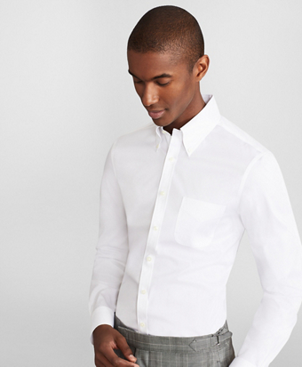 Soho Extra-Slim Fit Dress Shirt, Performance Non-Iron with COOLMAX®, Button-Down Collar Broadcloth