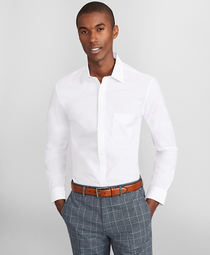 Milano Slim Fit Dress Shirt, Performance Non-Iron with COOLMAX®, Ainsley Collar Broadcloth