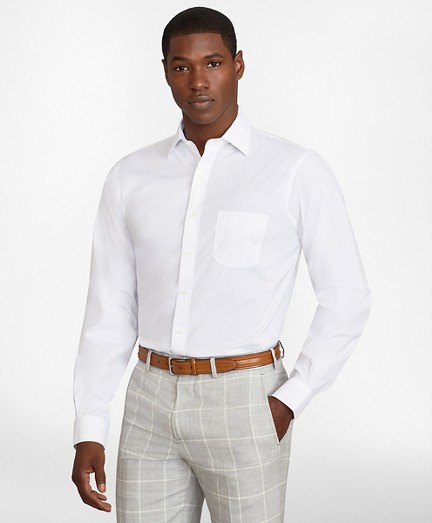 Regent Fitted Dress Shirt, Performance Non-Iron with COOLMAX®, Ainsley Collar Broadcloth