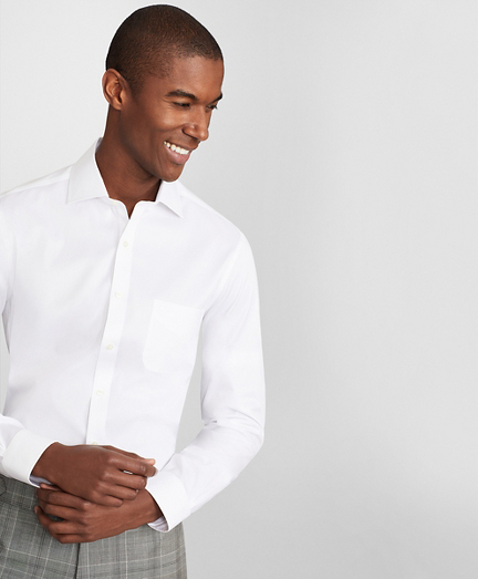 Soho Extra-Slim Fit Dress Shirt, Performance Non-Iron with COOLMAX®, English Spread Collar Broadcloth
