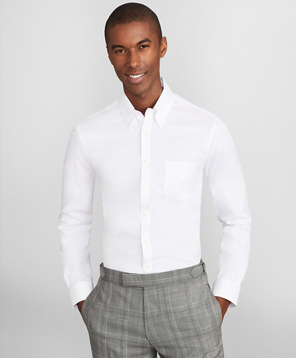 Soho Extra-Slim Fit Dress Shirt, Performance Non-Iron with COOLMAX®, Button-Down Collar Twill