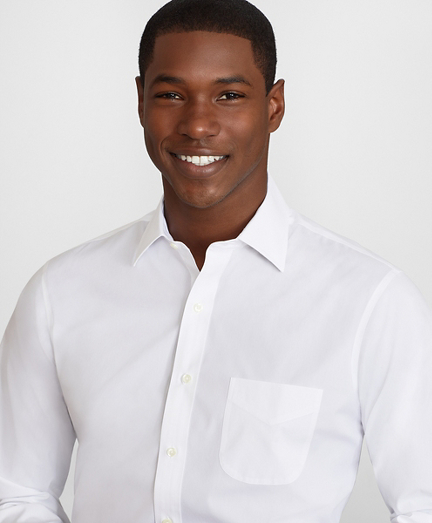 Regent Fitted Dress Shirt, Performance Non-Iron with COOLMAX®, Ainsley Collar Twill