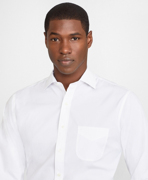 Regent Fitted Dress Shirt, Performance Non-Iron with COOLMAX®, English Spread Collar Twill White