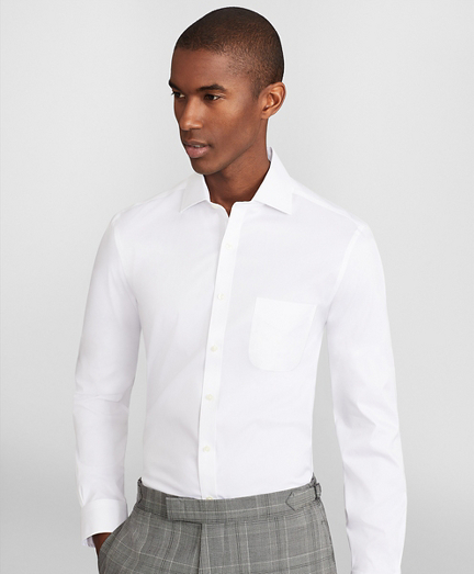 Soho Extra-Slim Fit Dress Shirt, Performance Non-Iron with COOLMAX®, English Spread Collar Twill