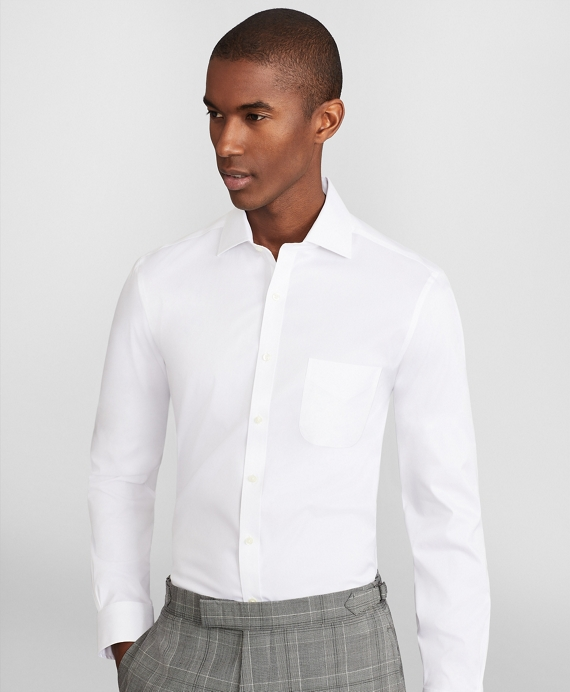 Soho Extra-Slim Fit Dress Shirt, Performance Non-Iron with COOLMAX®, English Spread Collar Twill White