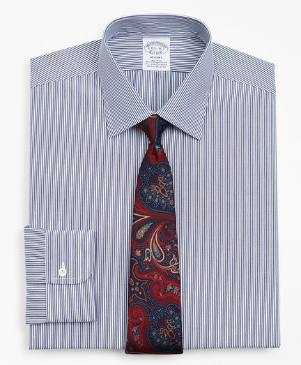 Stretch Regent Fitted Dress Shirt, Non-Iron Stripe
