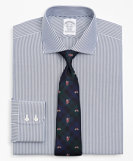 Regent Fitted Dress Shirt, Non-Iron Bengal Stripe