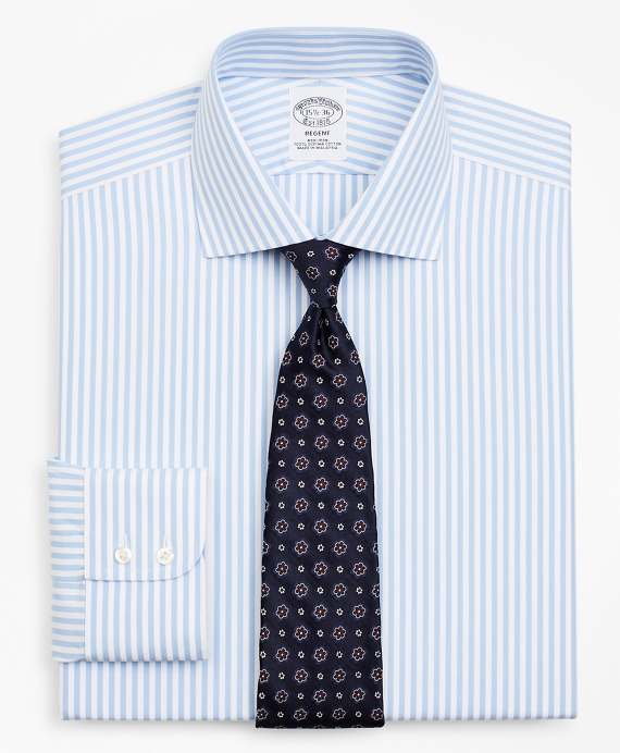 Regent Fitted Dress Shirt, Non-Iron Stripe Vista Blue