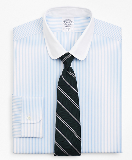 Stretch Regent Fitted Dress Shirt, Stripe