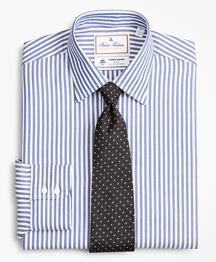 Luxury Collection Regent Fitted Dress Shirt, Franklin Spread Collar Bengal Stripe