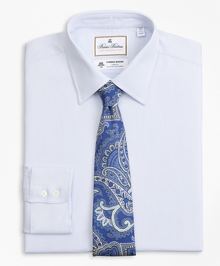 Luxury Collection Regent Fitted Dress Shirt, Franklin Spread Collar Broken  Stripe