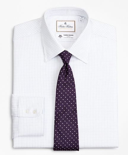 Luxury Collection Regent Fitted Dress Shirt, Franklin Spread Collar Fine Windowpane