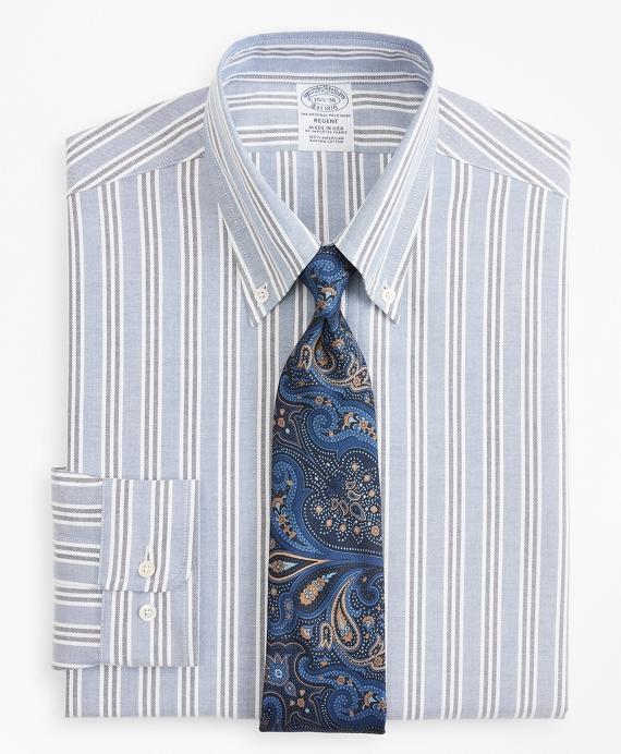 Original Polo® Button-Down Oxford Regent Regular-Fit Dress Shirt, Triple Stripe Blue