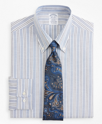 Original Polo® Button-Down Oxford Regent Fitted Dress Shirt, Triple Stripe