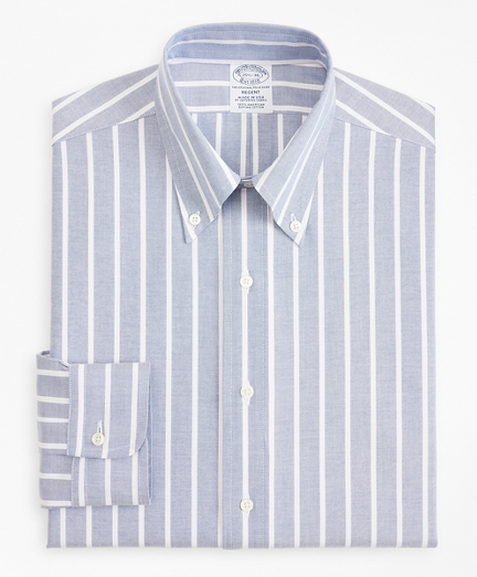 Original Polo® Button-Down Oxford Regent Fitted Dress Shirt, Wide Stripe
