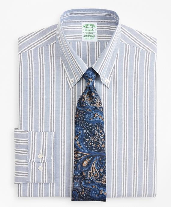 Original Polo® Button-Down Oxford Milano Slim-Fit Dress Shirt, Triple Stripe Blue