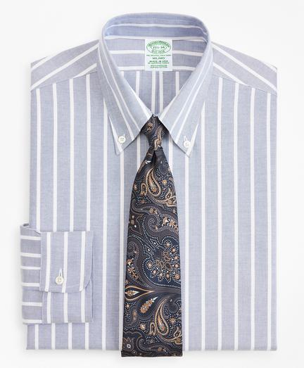 Original Polo® Button-Down Oxford Milano Slim-Fit Dress Shirt, Wide Stripe