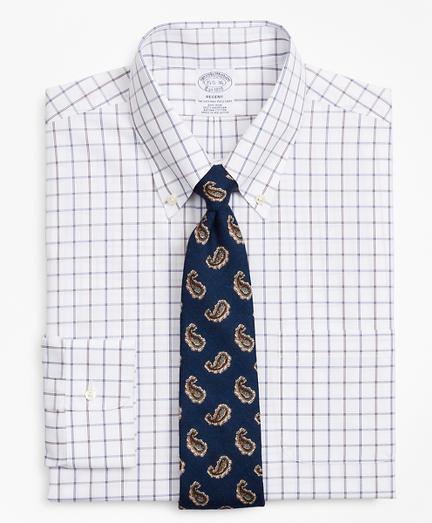 Regent Fitted Dress Shirt, Non-Iron Windowpane