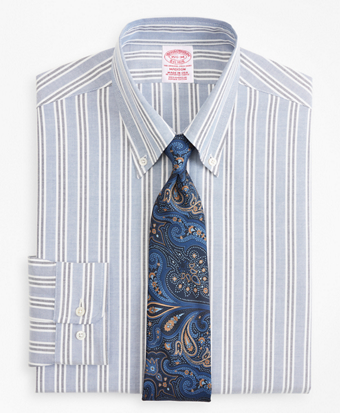 Original Polo® Button-Down Oxford Madison Classic-Fit Dress Shirt, Triple Stripe
