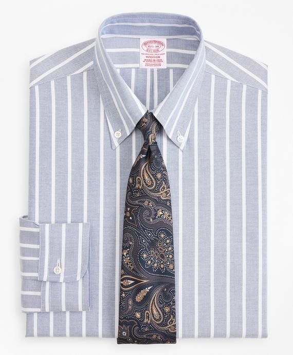 Original Polo® Button-Down Oxford Madison Classic-Fit Dress Shirt, Wide Stripe Blue