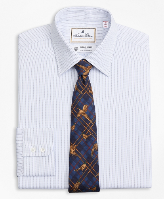 Luxury Collection Madison Relaxed-Fit Dress Shirt, Franklin Spread Collar  Textured Stripe White